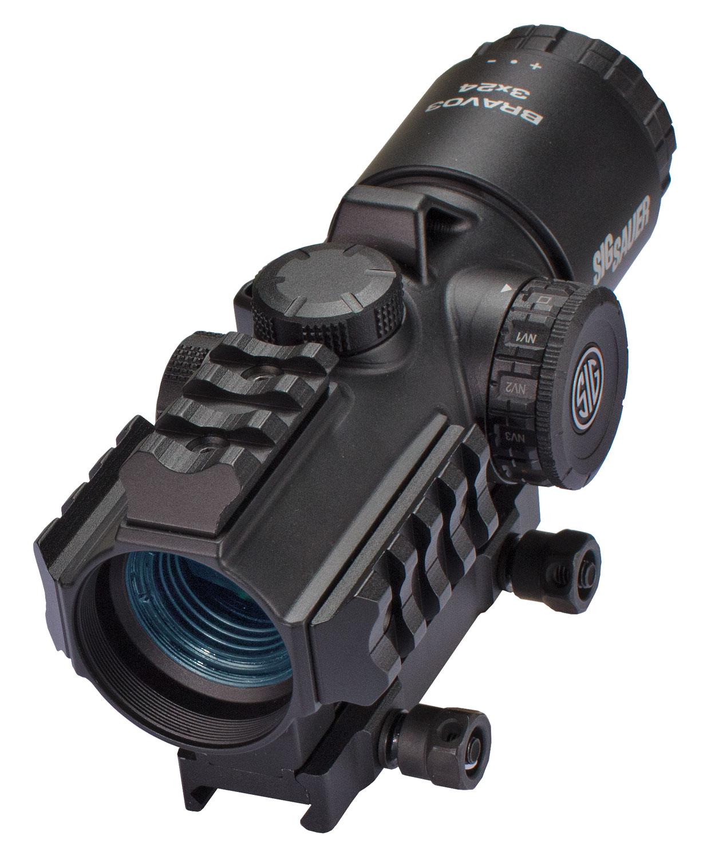 Sig Sauer Electro-Optics SOB33101 Bravo3 3x 24mm Obj Illuminated Horseshoe Dot 5.56/7.62 Black Finish